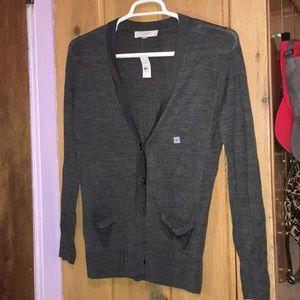 Loft knit long sleeve v neck cardigan nwt